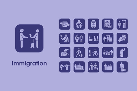 It is a set of immigration simple web icons