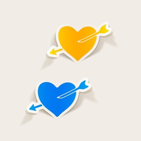 realistic design element: heart