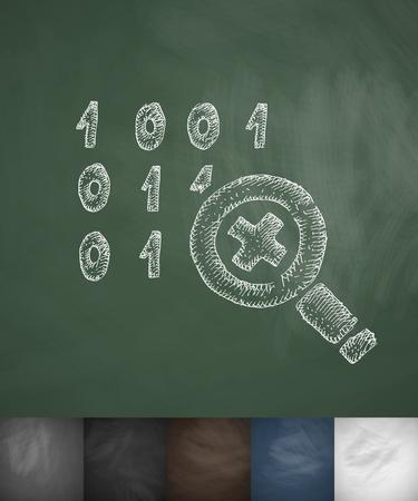 cipher: cipher icon. Hand drawn vector illustration. Chalkboard Design Illustration
