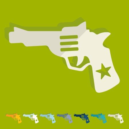 threaded: Flat design: revolver