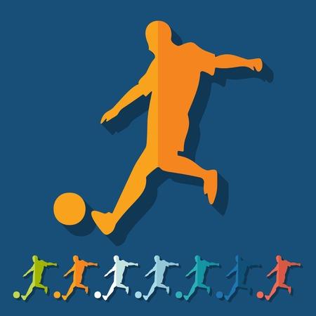 striker: Flat design: soccer player Illustration