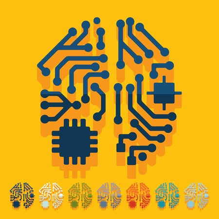 Flat design: artificial intelligence