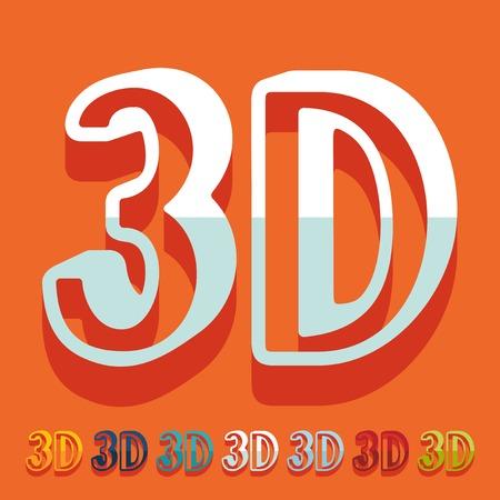 Flat design: 3D