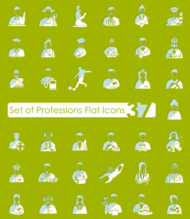 speciality: Set of professions flat icons for Web and Mobile Applications Illustration