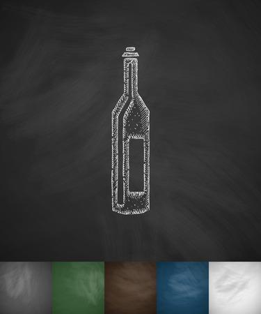french board: wine icon. Hand drawn vector illustration. Chalkboard Design