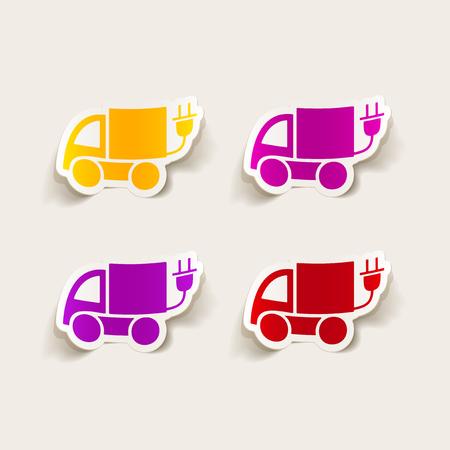 realistic design element: eco car Illustration