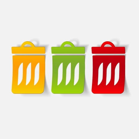 ecological adaptation: realistic design element: trash can