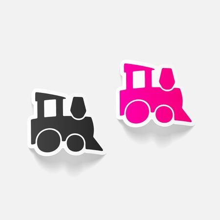 realistic design element: childrens train Illustration