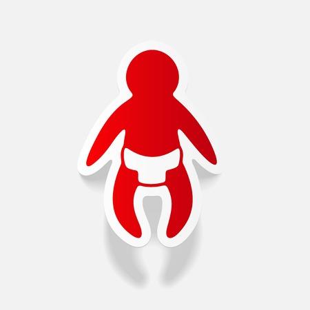 realistic design element: baby Illustration