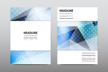 Brochure lay-out template flyer ontwerp vector, Magazine boekje dekking abstracte achtergrond Poster leaflet