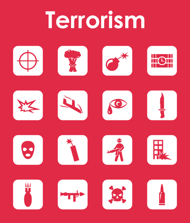 militant: It is a set of terrorism simple web icons Illustration
