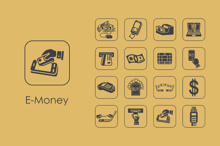 It is a set of e-money simple web icons Vettoriali
