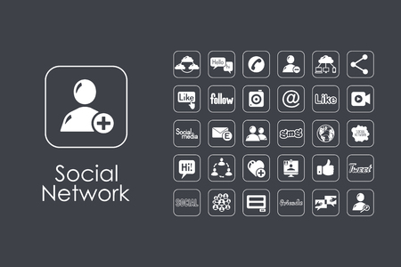 It is a set of social network simple web icons