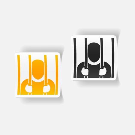 prisoner: realistic design element. prisoner Illustration
