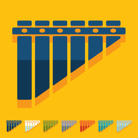 Flat design: panpipes Illustration