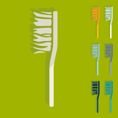 Design piatto: spazzolino da denti