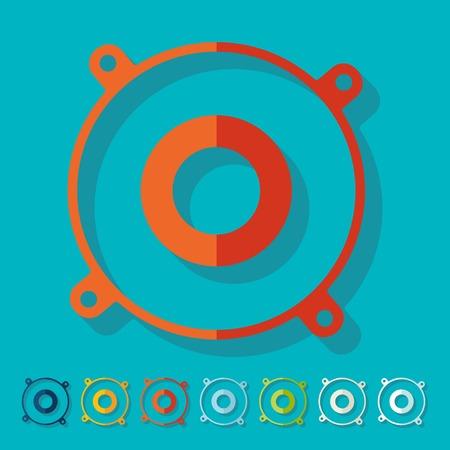 Flat design: speaker Illustration