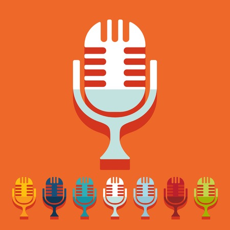 amplification: Flat design: microphone