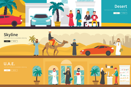 united arab emirate: Desert Skuline UAE flat office interior outdoor concept web. Career Chart Fun
