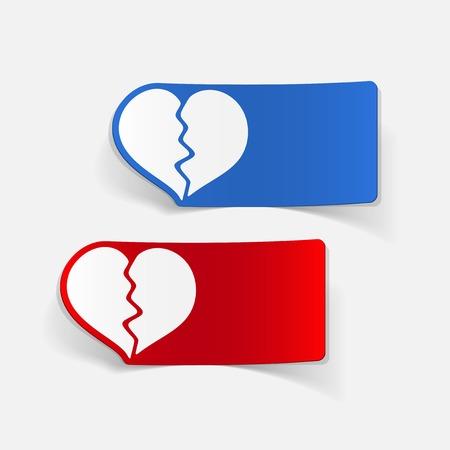 seducer: realistic design element: broken heart