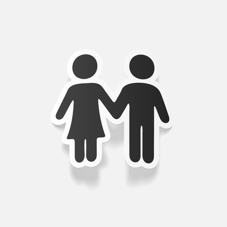 seducer: realistic design element: couple in love