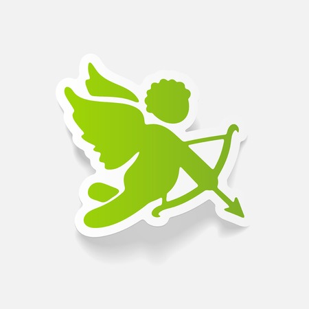 realistic design element: angel Illustration