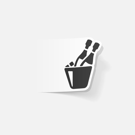 popping cork: realistic design element: champagne Illustration
