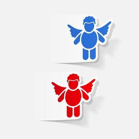 seducer: realistic design element: angel Illustration