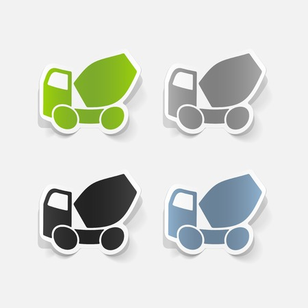 realistic design element: Cement Mixer Illustration