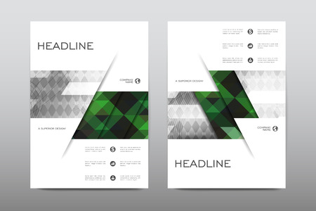 magazine design: Brochure layout template flyer design vector, Magazine booklet cover abstract background Poster leaflet