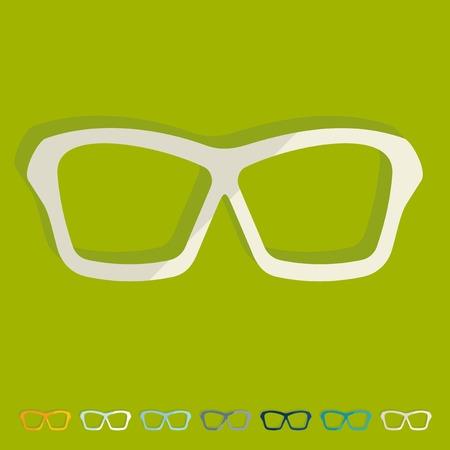 Flat design: glasses