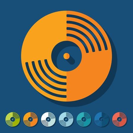 Flat design: vinyl record Illustration