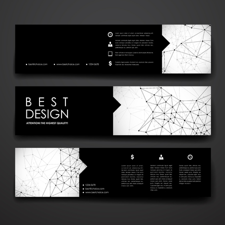 deoxyribonucleic: Set of modern design banner template in Molecular structure style. Beautiful design and layout Illustration