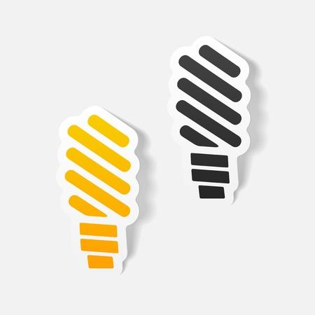 realistic design element: fluorescent light bulb Illustration