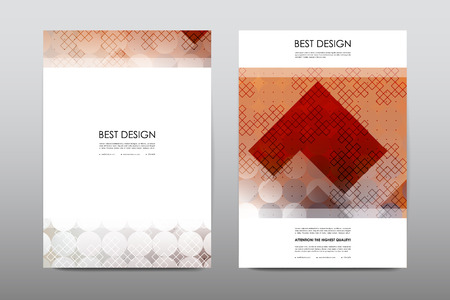 layout design template: Brochure layout template flyer design vector, Magazine booklet cover abstract background Poster leaflet