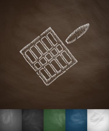 gridiron: gridiron icon. Hand drawn vector illustration. Chalkboard Design