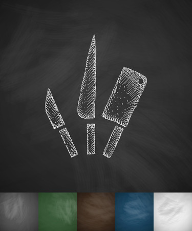 cutlery icon. Hand drawn vector illustration. Chalkboard Design