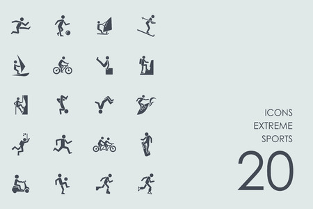 icono deportes: extrema conjunto de vectores de iconos simples deportes modernos Vectores