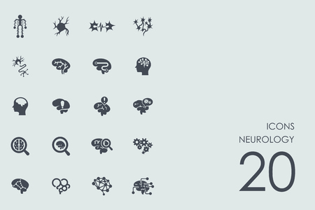 group therapy: neurology vector set of modern simple icons Illustration