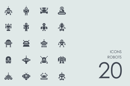 robots vector set van de moderne eenvoudige pictogrammen