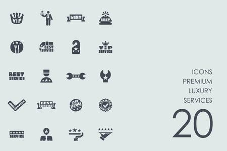 servizi di lusso premium vector set di icone semplici moderne
