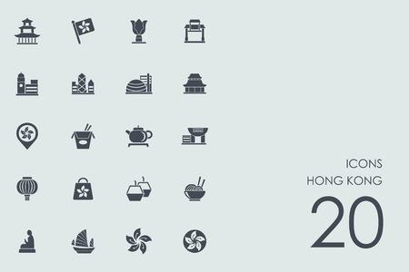 Hong Kong vector set of modern simple icons