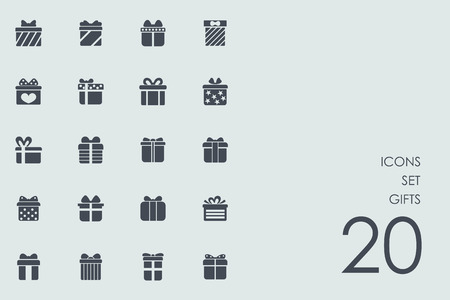 set gifts vector of modern simple icons