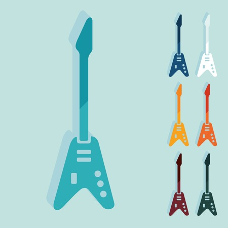 Flat design: electric guitar Vettoriali