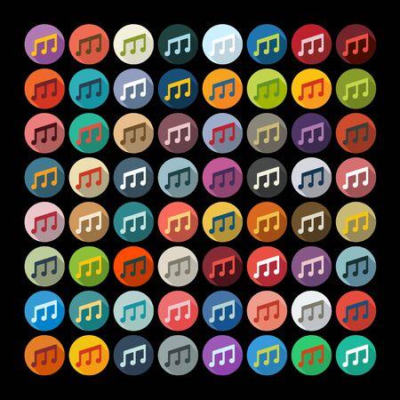 Flat design: musical note
