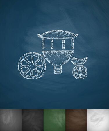 brougham: brougham icon. Hand drawn vector illustration. Chalkboard Design