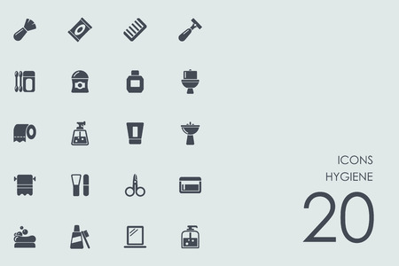 hardening: hygiene vector set of modern simple icons Illustration