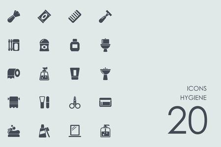 measures: hygiene vector set of modern simple icons Illustration
