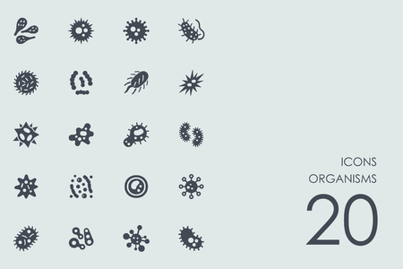 organisms: Set of organisms icons