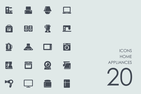 home appliances: Set of home appliances icons